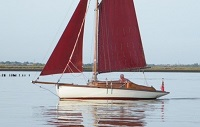 Crossfield 'Severn' with sail